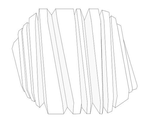 Un écran ciselé, des formes en mouvement