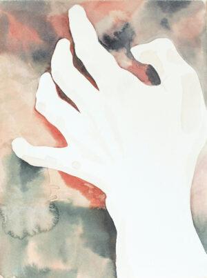 Aquarelle main fond cuivre