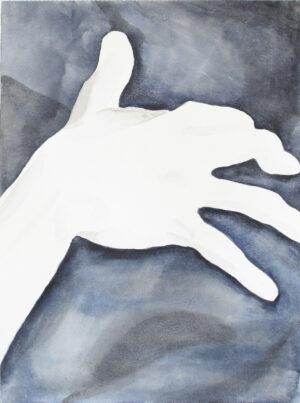Aquarelle main fond bleu